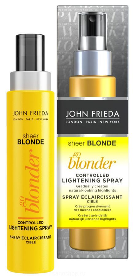 John Frieda Sheer Blonde Go Blonder Осветляющий спрей для волос, 100 мл