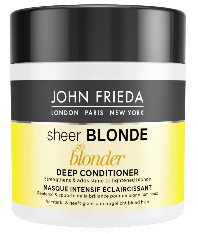 John Frieda Sheer Blonde Go Blonder Маска для светлых волос, 150 мл