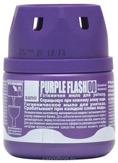 Средство в контейнере для унитаза Sano Purple Flash, 150 г