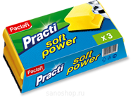 Губки для тефлона Soft Power Paclan, 3 шт