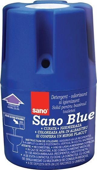 Средство в контейнере для унитаза Sano Blue Flash, 150 г